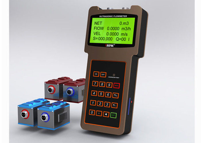 Handheld ultrasonic Ultrasonic Flow Meters / water flow meter with clamp on transducer